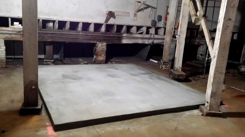 New concrete pad
