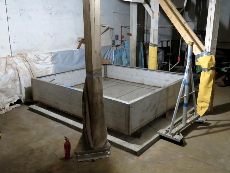 New ice tank half built