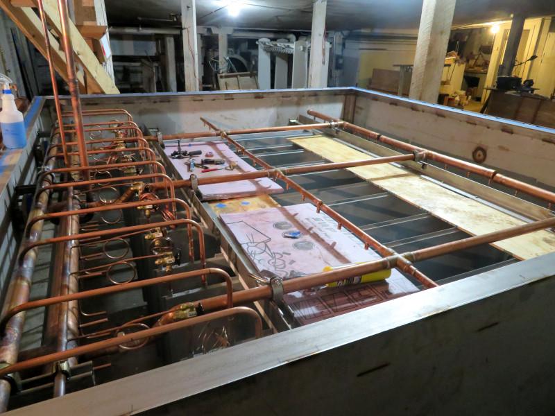 Refrigerant piping installed